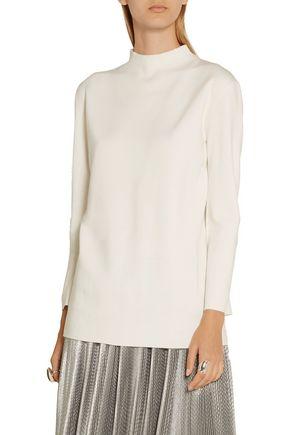 ADAM LIPPES Split-back merino wool sweater