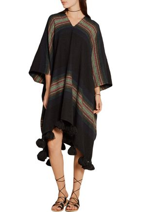 APIECE APART Serape tasseled striped alpaca-blend poncho
