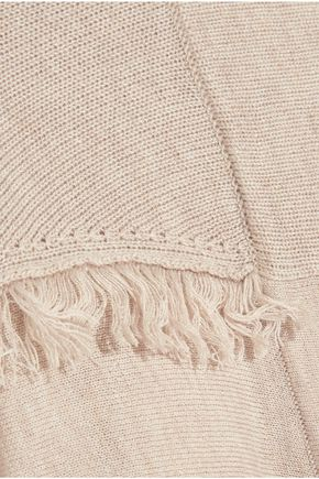 SPLENDID Ridge frayed knitted cardigan