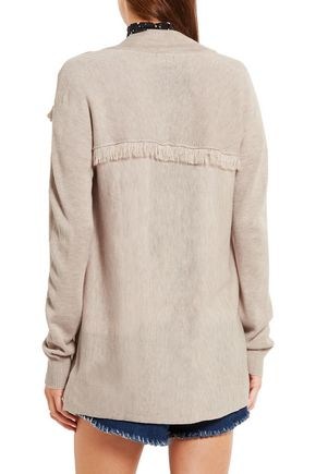 ... SPLENDID Ridge frayed knitted cardigan