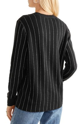OPENING CEREMONY Metallic pinstriped cotton-blend sweater