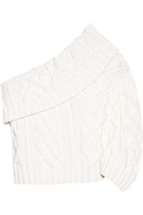ROSIE ASSOULIN One-shoulder cable-knit wool-blend sweater