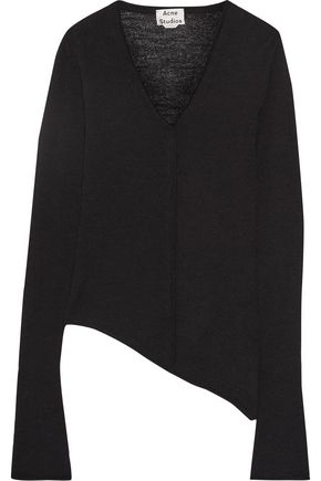 ACNE STUDIOS Jaden asymmetric alpaca and wool-blend sweater