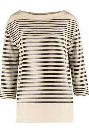 VINCE. Striped cotton-jersey sweatshirt