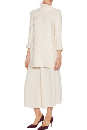 MICHELLE MASON Turtleneck cable-knit sweater