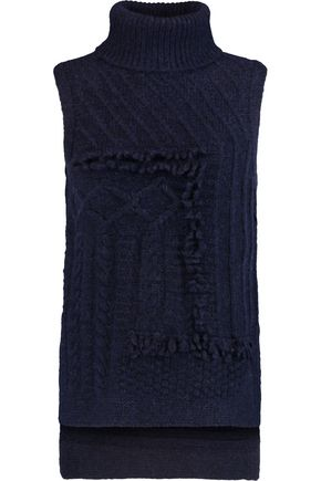 10 CROSBY DEREK LAM Fringed knitted turtleneck tank
