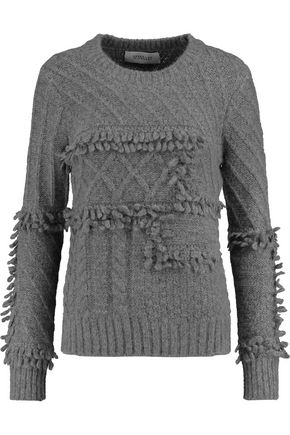 10 CROSBY DEREK LAM Fringed cable-knit sweater