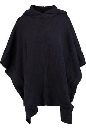 SEE BY CHLOÉ Ribbed alpaca-blend hooded cape