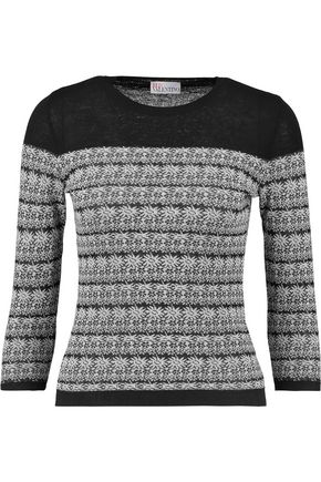 REDValentino Paneled cotton-blend sweater