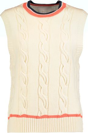 3.1 PHILLIP LIM Cable-knit wool-blend tank
