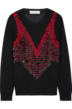 ALTUZARRA Powell embellished merino wool sweater