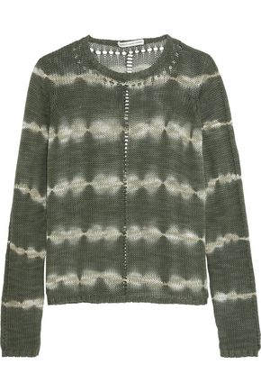 COTTON by AUTUMN CASHMERE Tie-dye open-knit cotton sweater