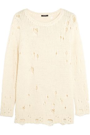 R13 Distressed knitted sweater