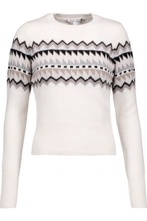 AUTUMN CASHMERE Fair Isle intarsia-knit sweater