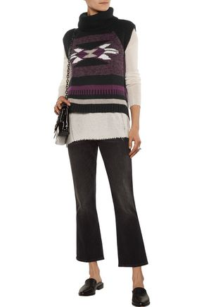 AUTUMN CASHMERE Navajo intarsia-knit turtleneck sweater
