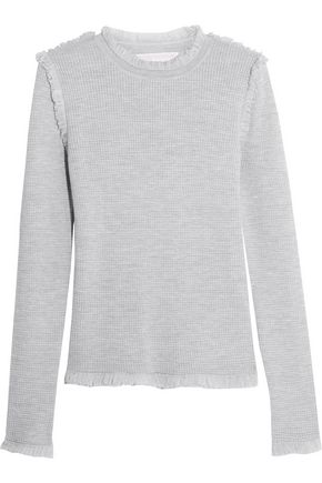 MICHAEL MICHAEL KORS Fringed merino wool sweater