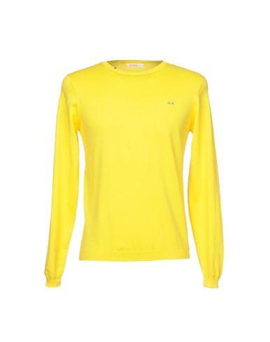 Фото - Мужской свитер SUN 68 желтого цвета