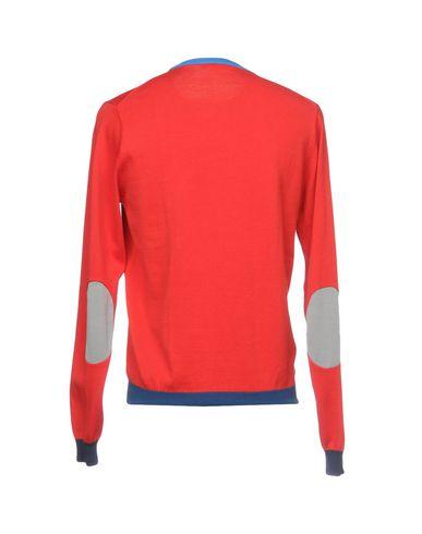 Фото 2 - Мужской свитер SUN 68 красного цвета