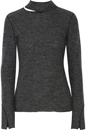 PROTAGONIST Cutout wool turtleneck sweater