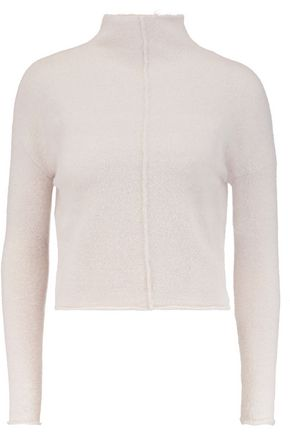 LINE Eva cropped stretch-knit turtleneck sweater