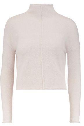 LINE Eva cropped stretch-knit turtleneck sweater