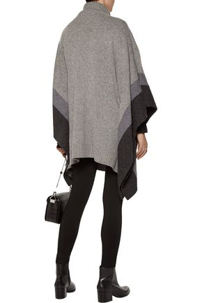 CHINTI AND PARKER Striped wool poncho