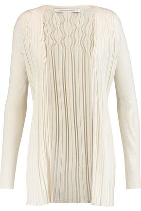 DIANE VON FURSTENBERG Bari ribbed silk and cashmere cardigan
