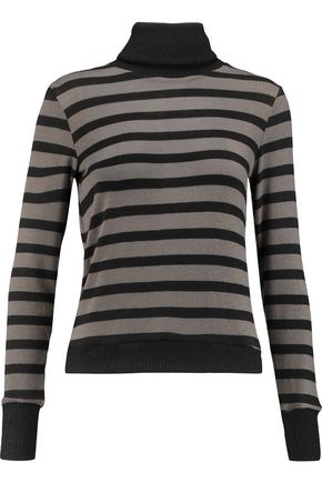 KAIN LABEL Creyton striped stretch-modal turtleneck sweater