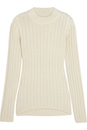 MM6 by MAISON MARGIELA Ribbed wool-blend sweater