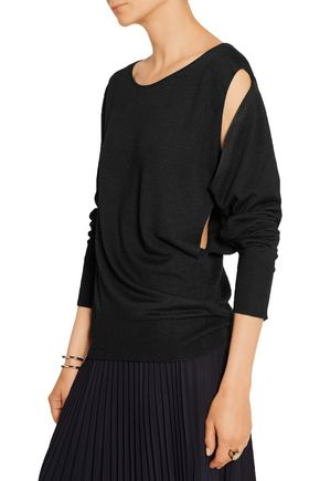 MM6 by MAISON MARGIELA Convertible cutout knitted sweater