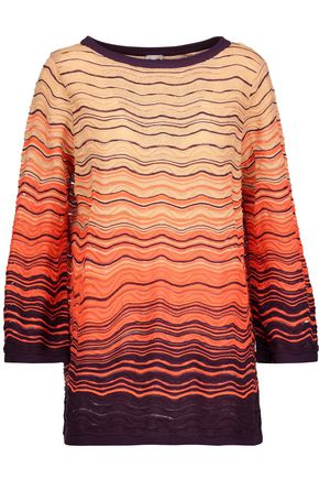 M MISSONI Crocheted cotton-blend sweater