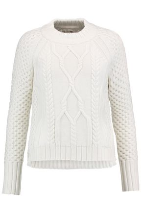 RAG & BONE Cameron waffle and cable-knit wool sweater