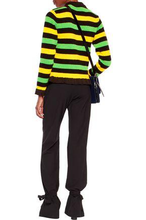 J.W.ANDERSON Ruffled striped bouclé sweater