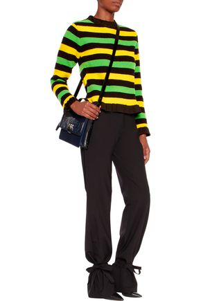J.W.ANDERSON Ruffled striped bouclé sweater