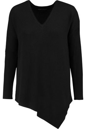 ALICE + OLIVIA Edie asymmetric wool-blend sweater