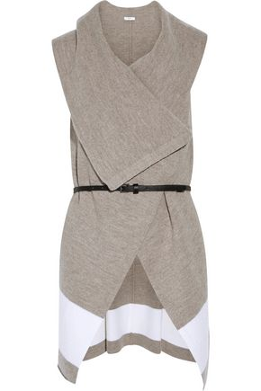 JOIE Ligiere belted draped wool vest