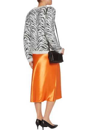 ROBERTO CAVALLI Intarsia-knit angora-blend sweater