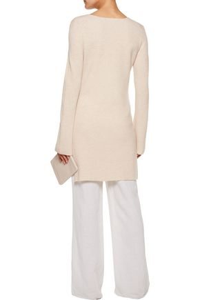 HELMUT LANG Waffle-knit wool and cashmere-blend sweater