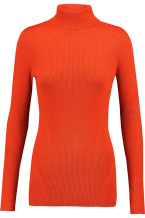 DIANE VON FURSTENBERG Sutton ribbed wool and silk-blend turtleneck sweater