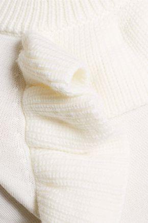 PAPER London Ruffled wool Tiger sweater