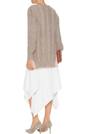 AGNONA Cable-knit wool and cashmere-blend sweater