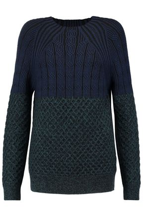 PROENZA SCHOULER Paneled cable-knit wool sweater