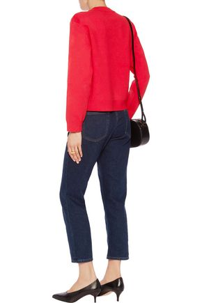 LOVE MOSCHINO Embellished stretch-knit sweater