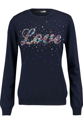 LOVE MOSCHINO Embellished knitted sweater
