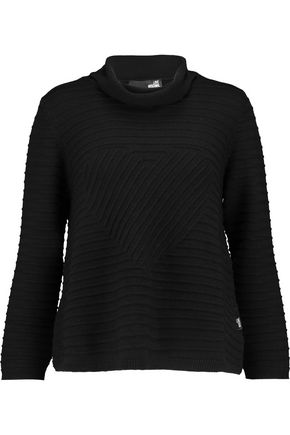 LOVE MOSCHINO Ribbed-wool turtleneck sweater