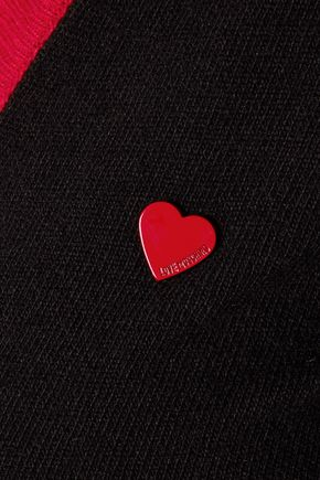 LOVE MOSCHINO Cutout stretch-knit cardigan