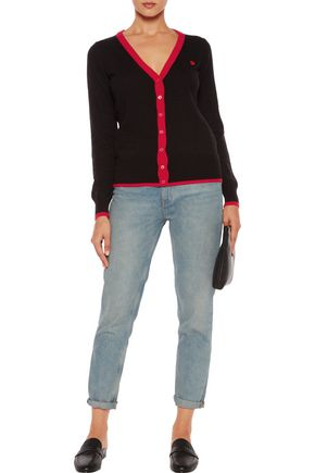 LOVE MOSCHINO Cutout stretch-knit cardigan