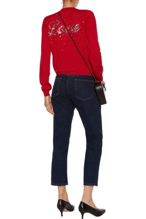LOVE MOSCHINO Embellished knitted cardigan