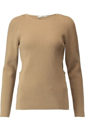 EMILIA WICKSTEAD Cutout wool, silk and cashmere-blend sweater