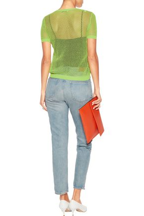 BOUTIQUE MOSCHINO Cotton-mesh sweater